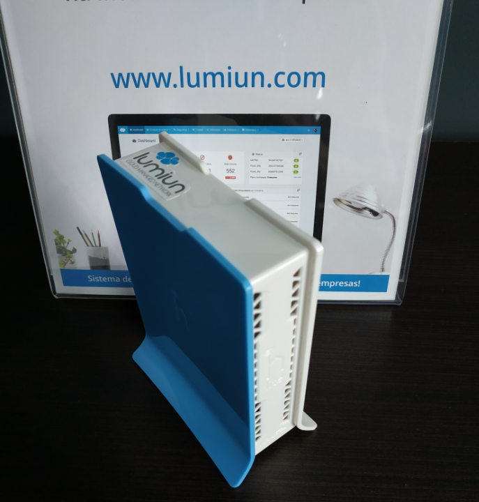 Login - Senha - Lumiun - Administrar - Redes - Wireless - Configurar - Salvar - Box Usado