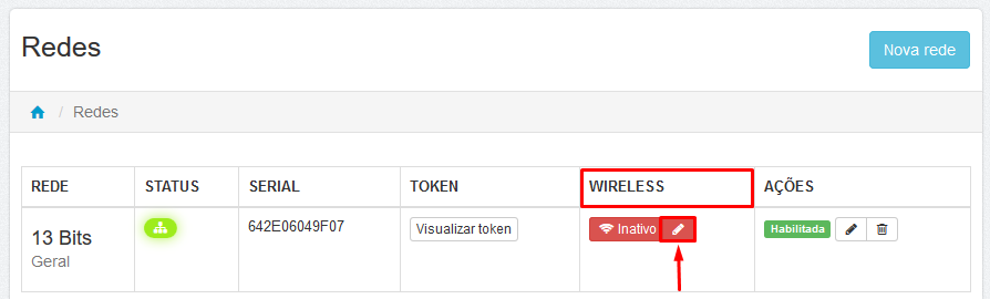 Login - Senha - Lumiun - Administrar - Redes - Wireless - Configurar