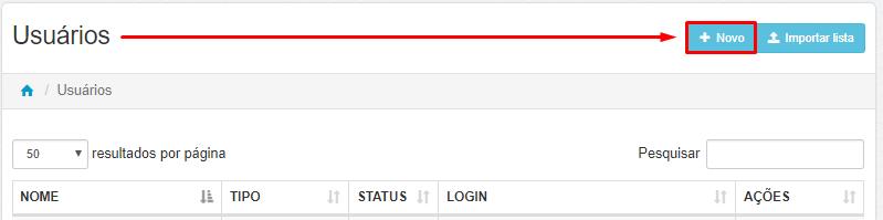 Login - Senha - Lumiun - Administrar - Usuarios - Novo