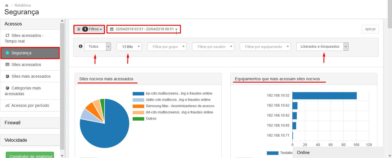 Lumiun - Dashboard - Relatorios - Relatorios 2.0 - Segurança