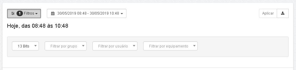 Lumiun - Dashboard - Relatorios - Relatorios 2.0 - Velocidade de Trafego - Filtros Atualizada
