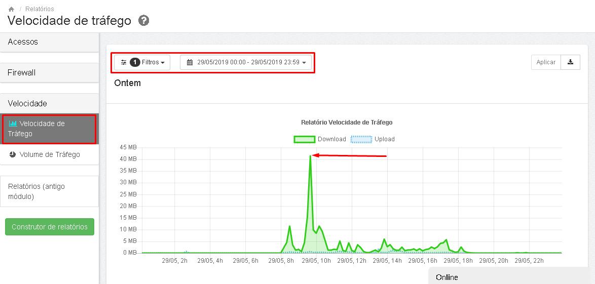 Lumiun - Dashboard - Relatorios - Relatorios 2.0 - Velocidade de Trafego - Resultado Atualizado