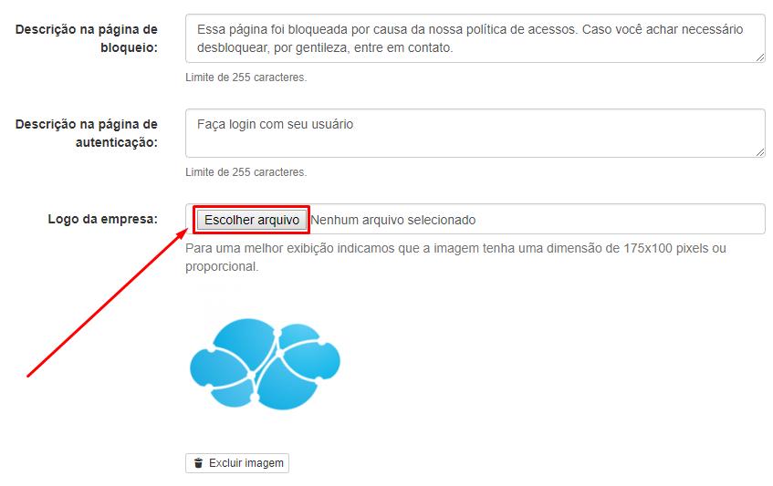 Menu > Administrar > Dados do Cliente > Logo da Empresa