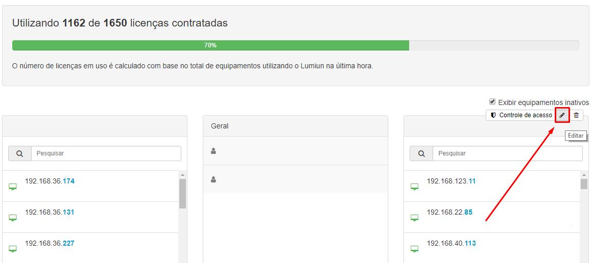Menu > Administrar > Grupo > Editar Grupo
