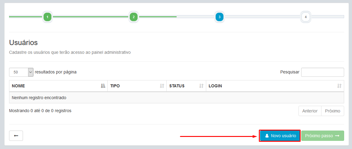Parceiro - Login - Painel - Novo Cliente - Cadastrado - Login no Cliente - Nova Rede - Serial - Proximo Passo - Novo Usuario