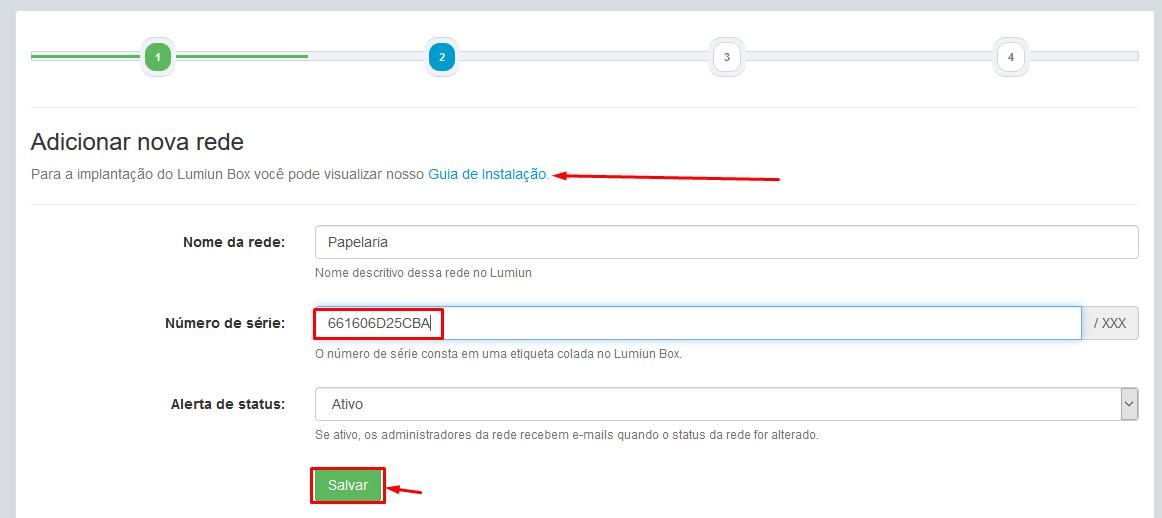 Parceiro - Login - Painel - Novo Cliente - Cadastrado - Login no Cliente - Nova Rede - Serial